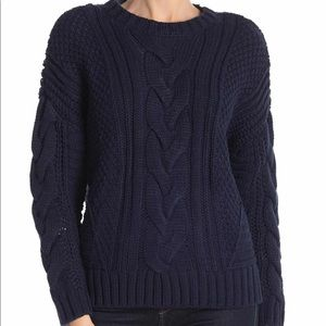 NWT One A Mixed Knit Crew Neck Sweater